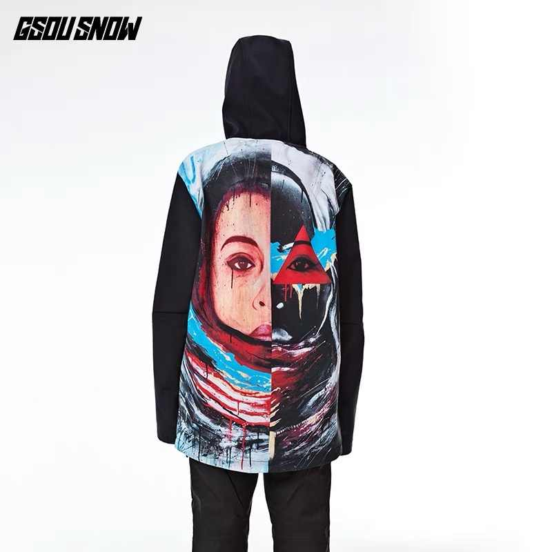 GSOU SNOW Female Jacket New Breathable Coats Cotton Women Jackets Ski Anti-pilling Waterproof Snowboard Fashion Ski Windproof