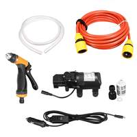 12V 65w 4L/min High Pressure Car Wash Water Pump Kit Marine Deck Sprayer Portable Car Washer Washing Machine Cigarette Lighter
