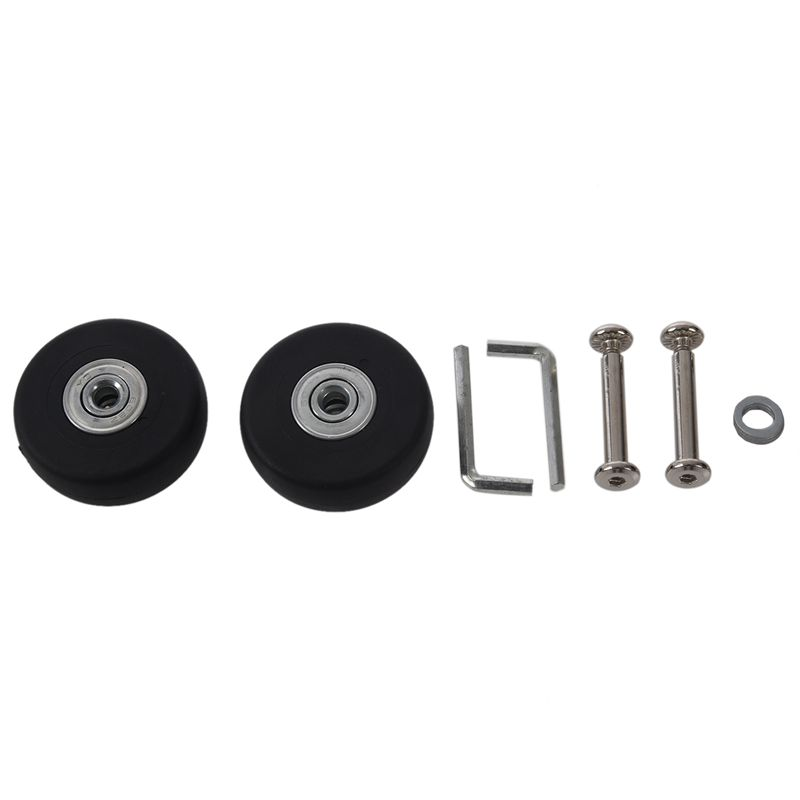 Abgf 2 Sets 50x15mm Luggage Suitcase Replacement Wheels Axles Deluxe Repair Tool Od 50mm Lowest Price