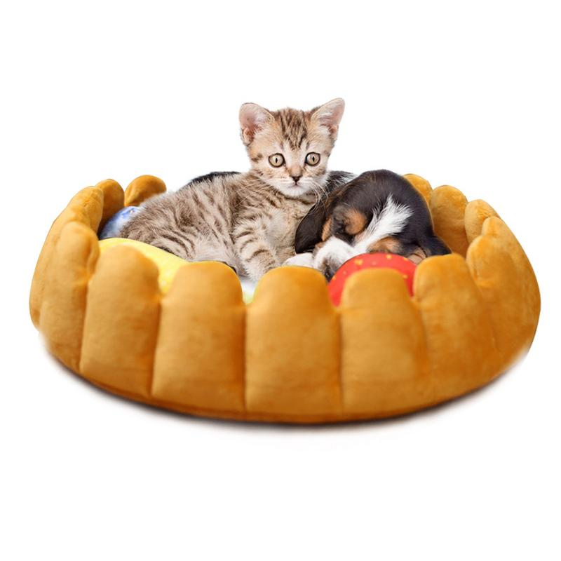Pumpkin-type Cat Puppy House Cute Cotton Pet Fruit Cave Pet Dog Cat Bed Sleepling Nest Warm Winter House Three Colors Available Home & Garden Cat Beds & Mats