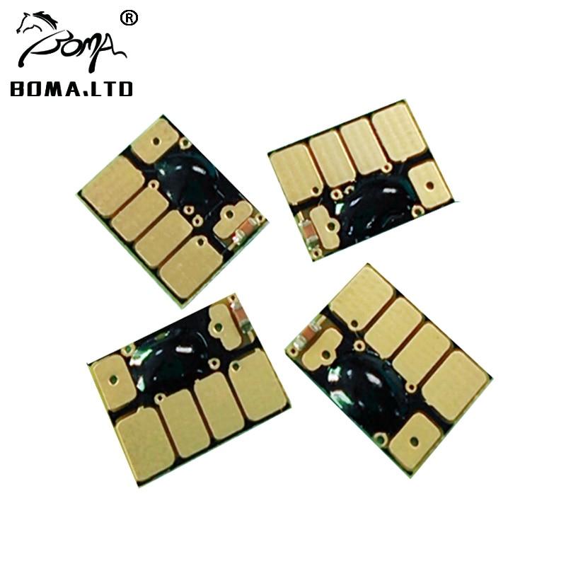 4 cor/conjunto chip de cartucho para hp10 11 arc chip de redefinição automática para hp designjet 100 plus 110 mais 70 100 110 110ps 20ps 50ps impressora