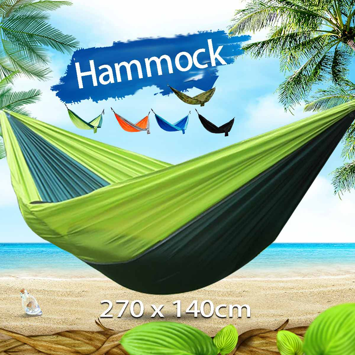 270x140cm Portable Parachute 210T Nylon Hammock Double Swing Hanging Bed Outdoor Camping Barbecue Picnic Clean And Safe270x140cm Portable Parachute 210T Nylon Hammock Double Swing Hanging Bed Outdoor Camping Barbecue Picnic Clean And Safe