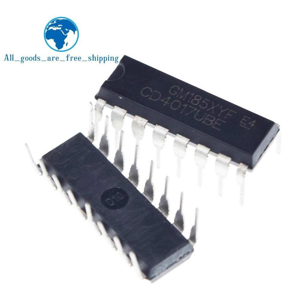 20PCS CD4017BE 4017 CD4017 DECADE COUNTER DIVIDER IC UK