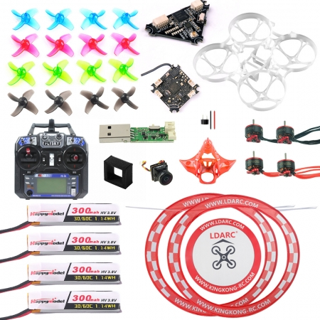 Full Set with Transmitter DIY Mobula 7 V3 FPV Drone Crazybee