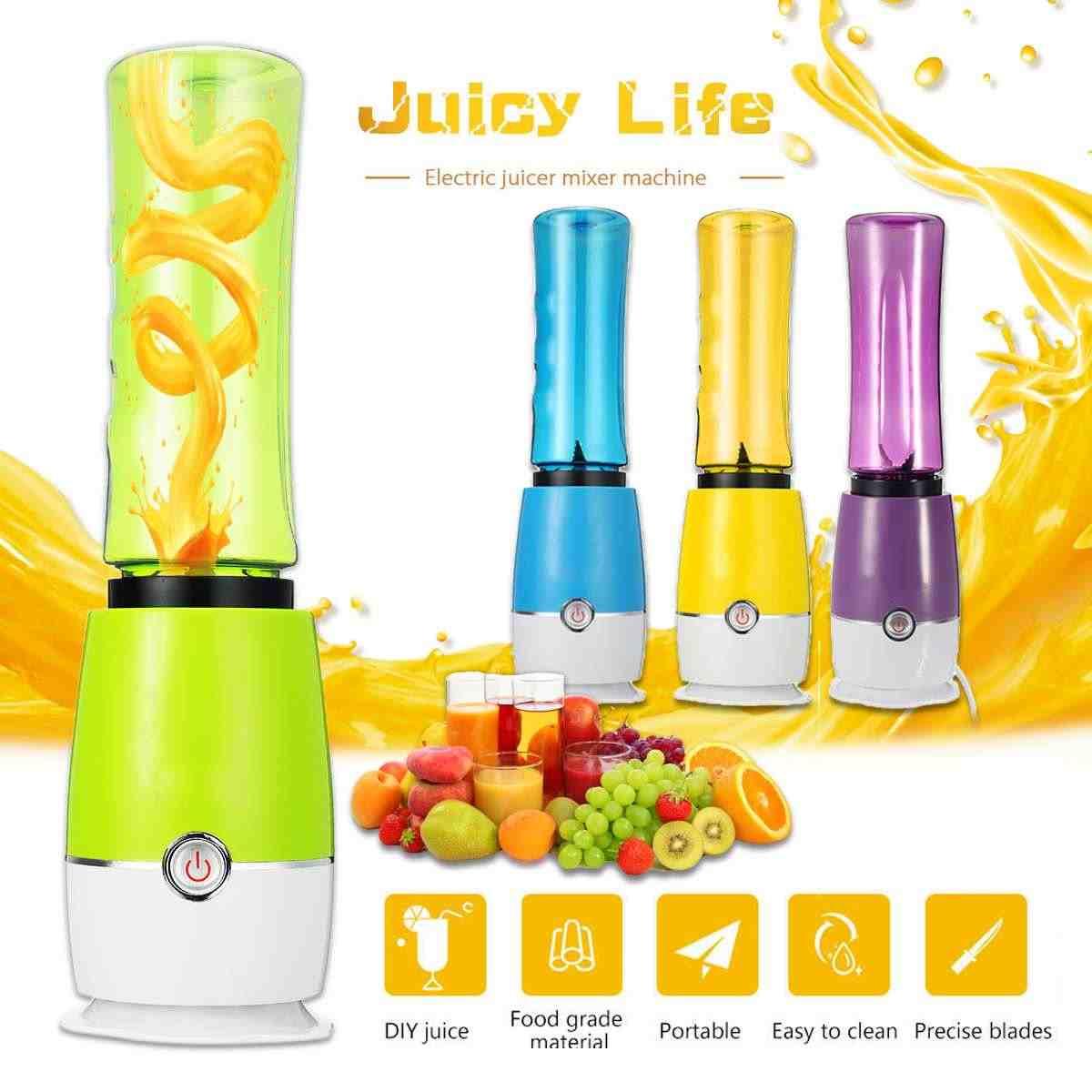 500 ML Squeezers Juicer Copa Mini Portátil Fabricante Shaker Misturador de Frutas Elétrico Extrator de Laranja Garrafa De 220 V 180 W