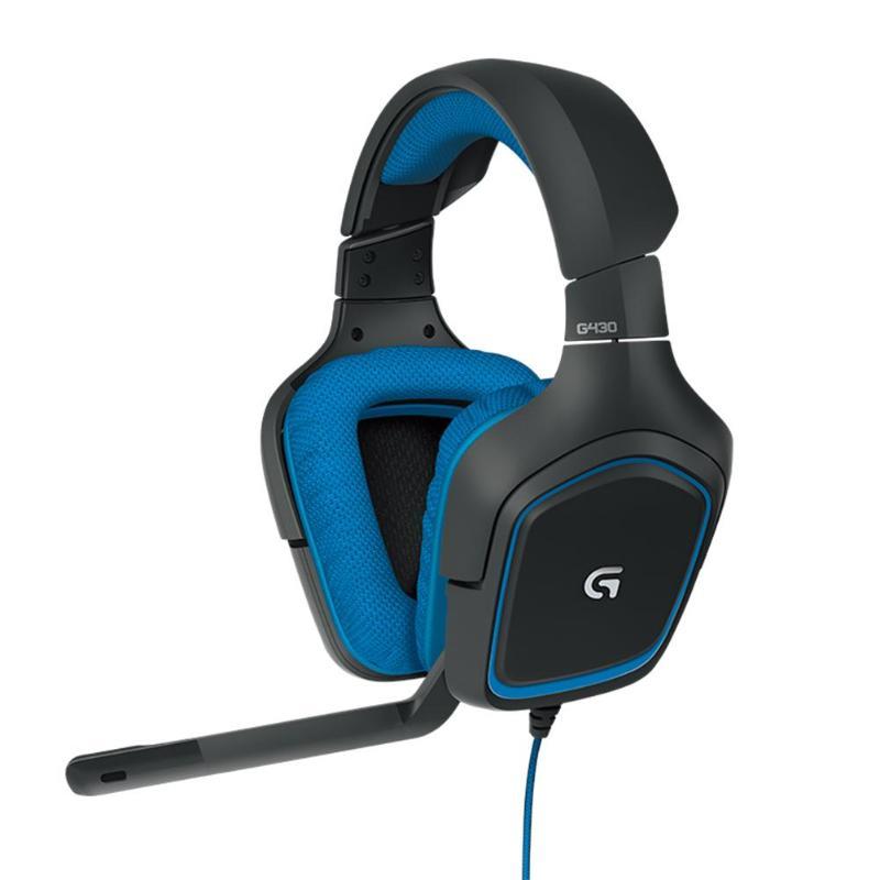 Gradient de pression Electret Logitech G430 7.1 Surround casque de jeu stéréo filaire casque Gamer avec Microphone pour PC