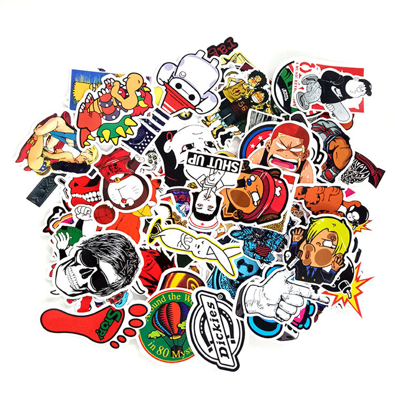 100pcs/pack Classic Graffiti Stickers For Motor Car Suitcase Laptop Skateboard Stickers 20pcs/lot & 50pcs/set Can Choose