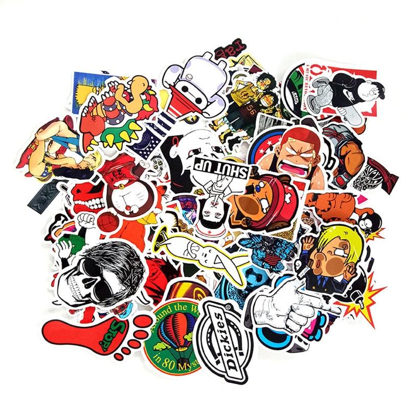 100pcs/pack Classic Graffiti Stickers For Motor Car Suitcase Laptop Skateboard Stickers 20pcs/lot & 50pcs/set Can Choose