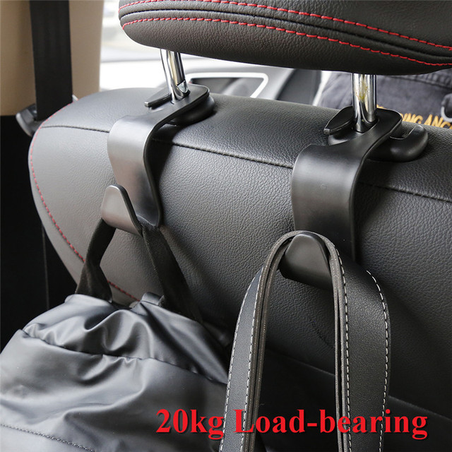 2pcs Car Hook Seat Hook SUV Back Seat Headrest Hanger Storage Hooks for Groceries Bag Handbag Auto Products Free Shopping