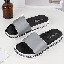 Woman Slipper Solid New Leisure Fashion Flat Bottom Beach Platform Ladies Shoes Non-slip Zapatos De Mujer PVC Home Outdoor