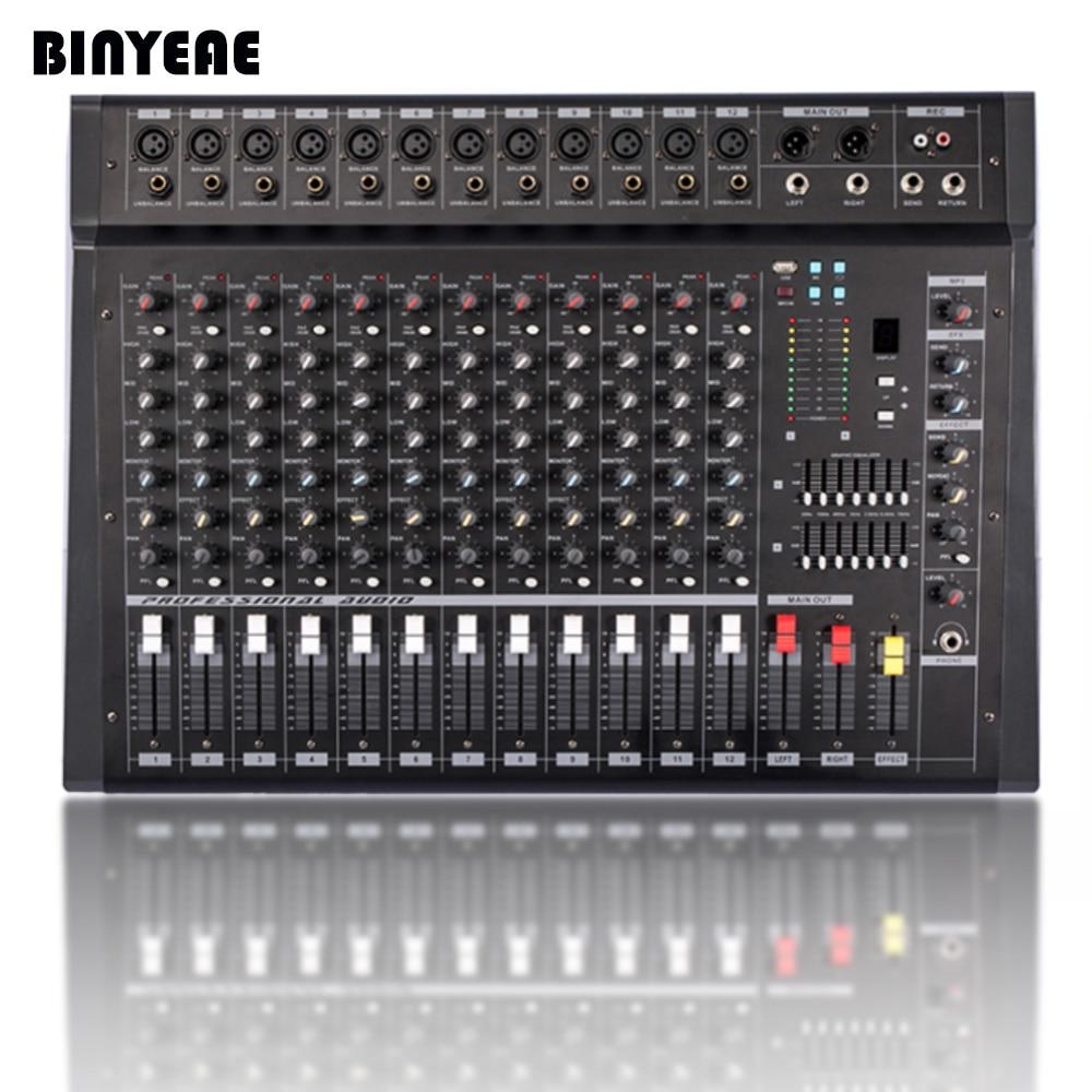 700W Powered Audio DJ Mixer Amplifier PMX1206D for Karaoke Studio