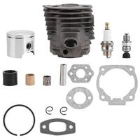 46mm Cylinder Piston With Gasket Kit Fits For Hus Qvarna 50, 51, 55, 55 For Rancher Chainsaw For Nikasil Engine 1x