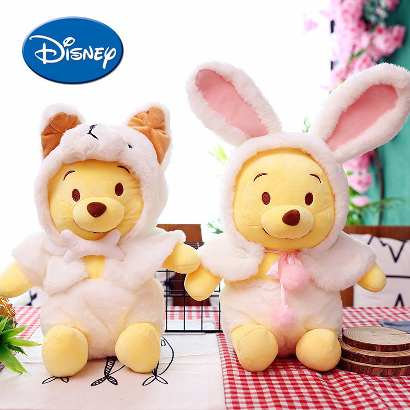 Disney Plus Toys Lovely Change Body Rabbit Winnie Pooh Stuffed Animals Gifts For Boy And Girl Baby