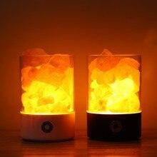 все цены на USB Crystal Light Natural Himalayan Salt Lamp Color Change LED Lamp Air Purifier Indoor warm light table lamp bedroom lava lamp онлайн