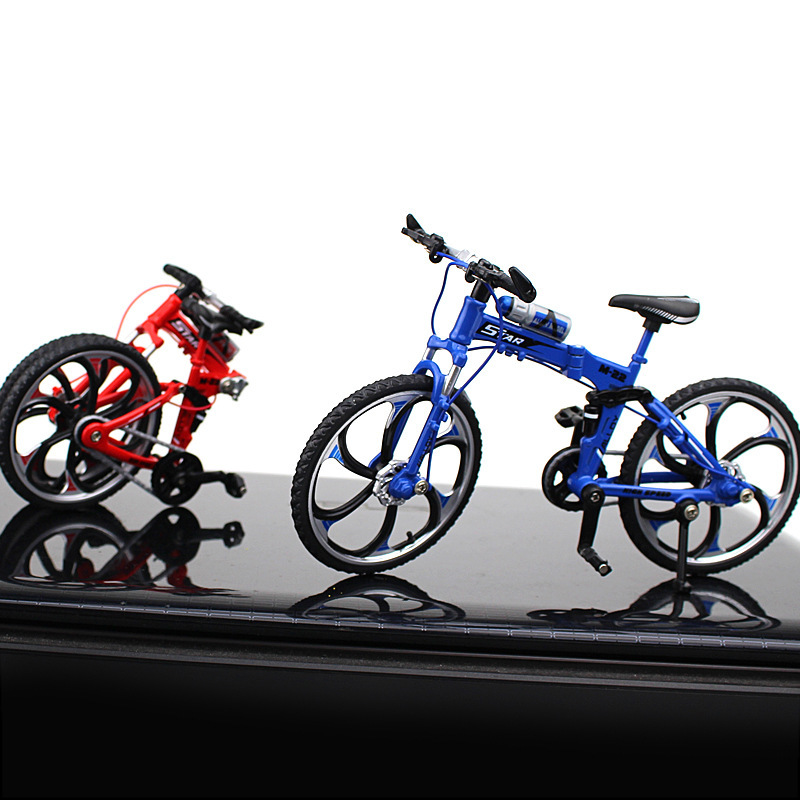 Creative Diecast Alloy Bicycle Model 1 10 RacingCycle Handicraft Cross Mountain Bike Mini Simulation Collection Gift Hotwheeling in Diecasts Toy Vehicles from Toys Hobbies
