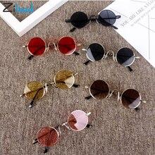 Zilead Round Fashion colorful Sunglasses Cute Kids Retro Frame Glasses Children Sun For Boys Girls Brand Eyewear UV400