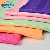 3 colores 40 cm * 60 cm 54 g paño de microfibra para la limpieza de la cocina * 3 uds