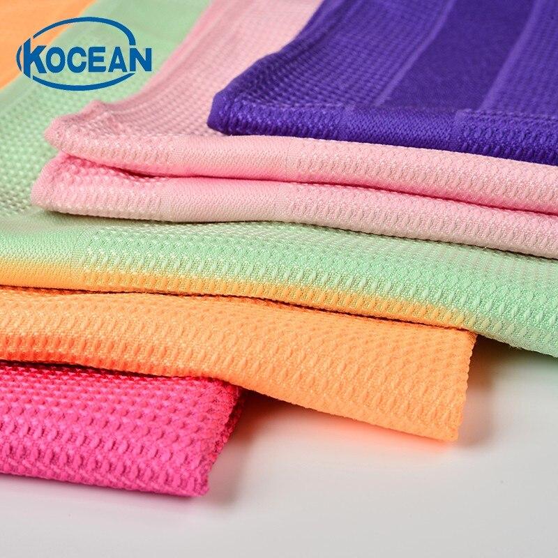 3 couleurs 40 cm * 60 cm 54 g chiffon en microfibre pour le nettoyage de la cuisine * 3 pièces