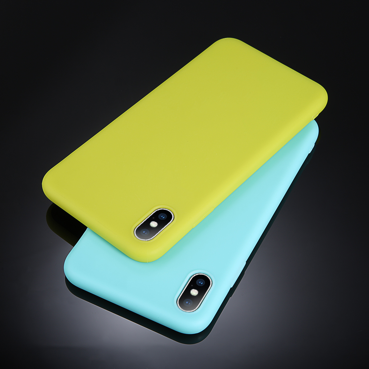 iPWSOO Candy Color Matte Phone Case For iPhone 7 8 Plus 6 6s For iPhone XS MAX X XR Simple Solid Soft TPU Cases Back Cover