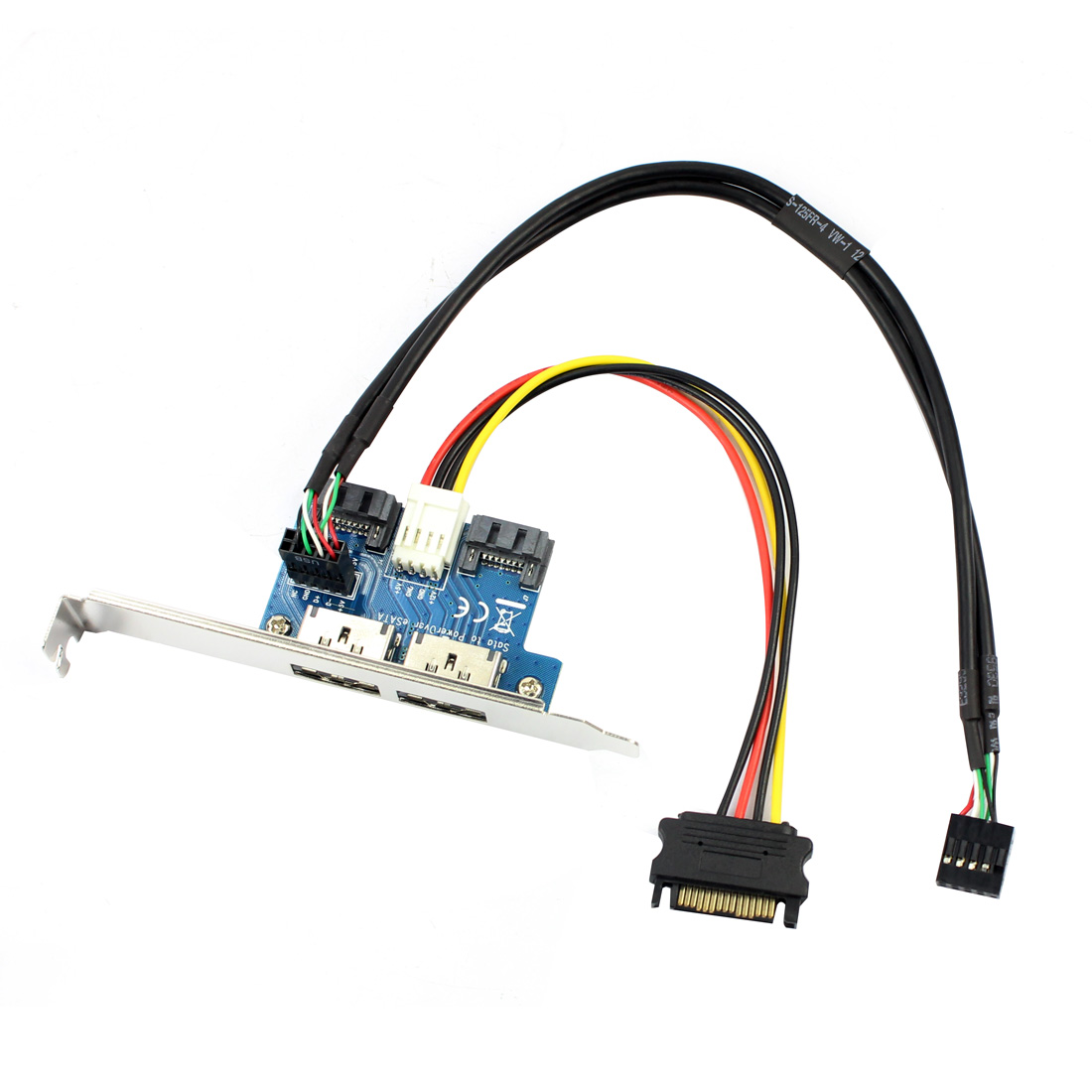 Dual Port SATA To 5V 12V Power Over ESATA USB Port Adapter Convert Expansion Converter Card Connect To 2.5