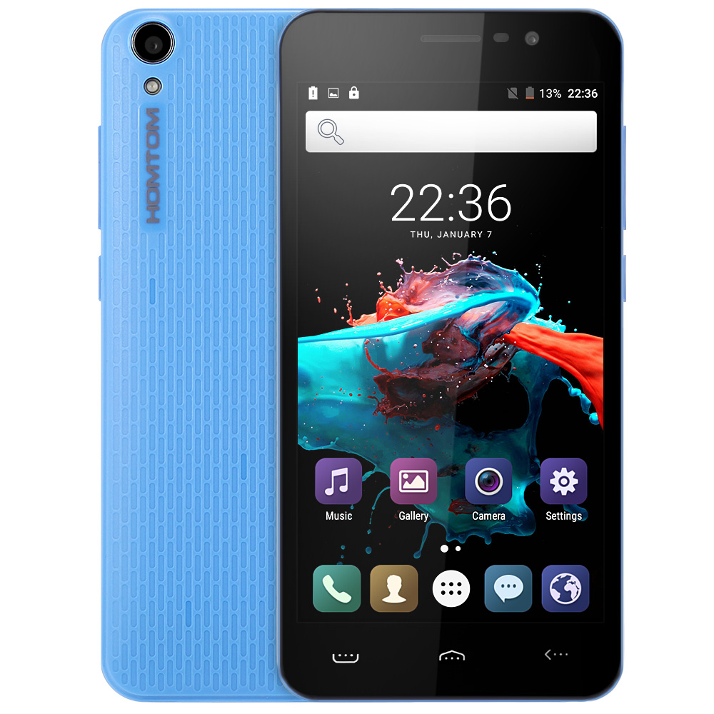 Homtom HT16 Android 6.0 5,0 zoll 3g Smartphone MTK6580 Quad Core 1,3 ghz 1 gb RAM 8 gb ROM Wakeup geste GPS A-GPS Bluetooth 4,0 1