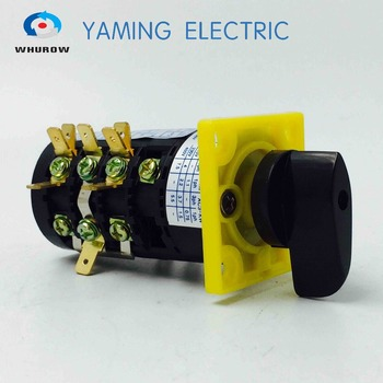 цена на Manufacturer 3 position change over cam rotary switch HZ5B series 4 pole 20A 380V control motor switch