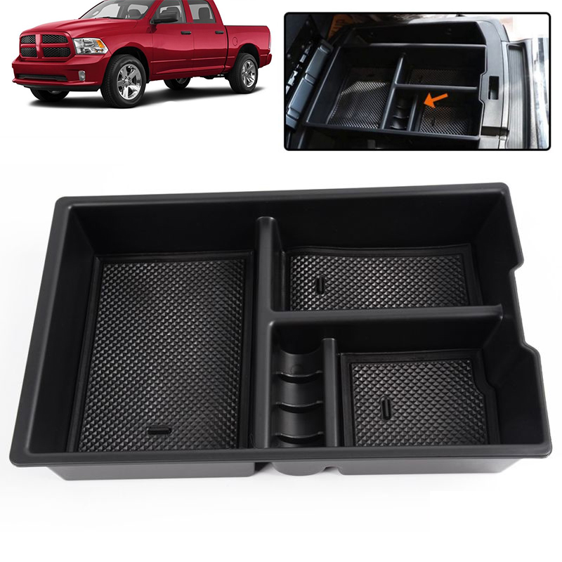2009-2018 DODGE RAM 1500 Car Center Console Armrest Glove Secondary Console Organizer Insert Tray Storage Box
