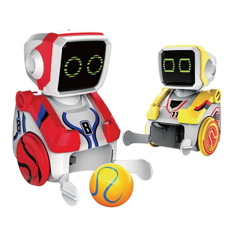 2 pièces numérique coup de pied Robot Puzzle électrique interactif télécommande Robot pour enfants garçons filles début d'apprentissage éducation jouet