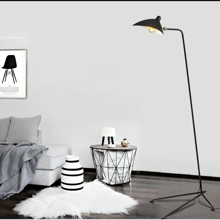 Modern Replica Design Black Floor Lamp Mantis Arm Floor Standing Lamp Nordic Loft Industrial Bedroom Decorate Standing Lamp-in Floor Lamps from Lights & Lighting