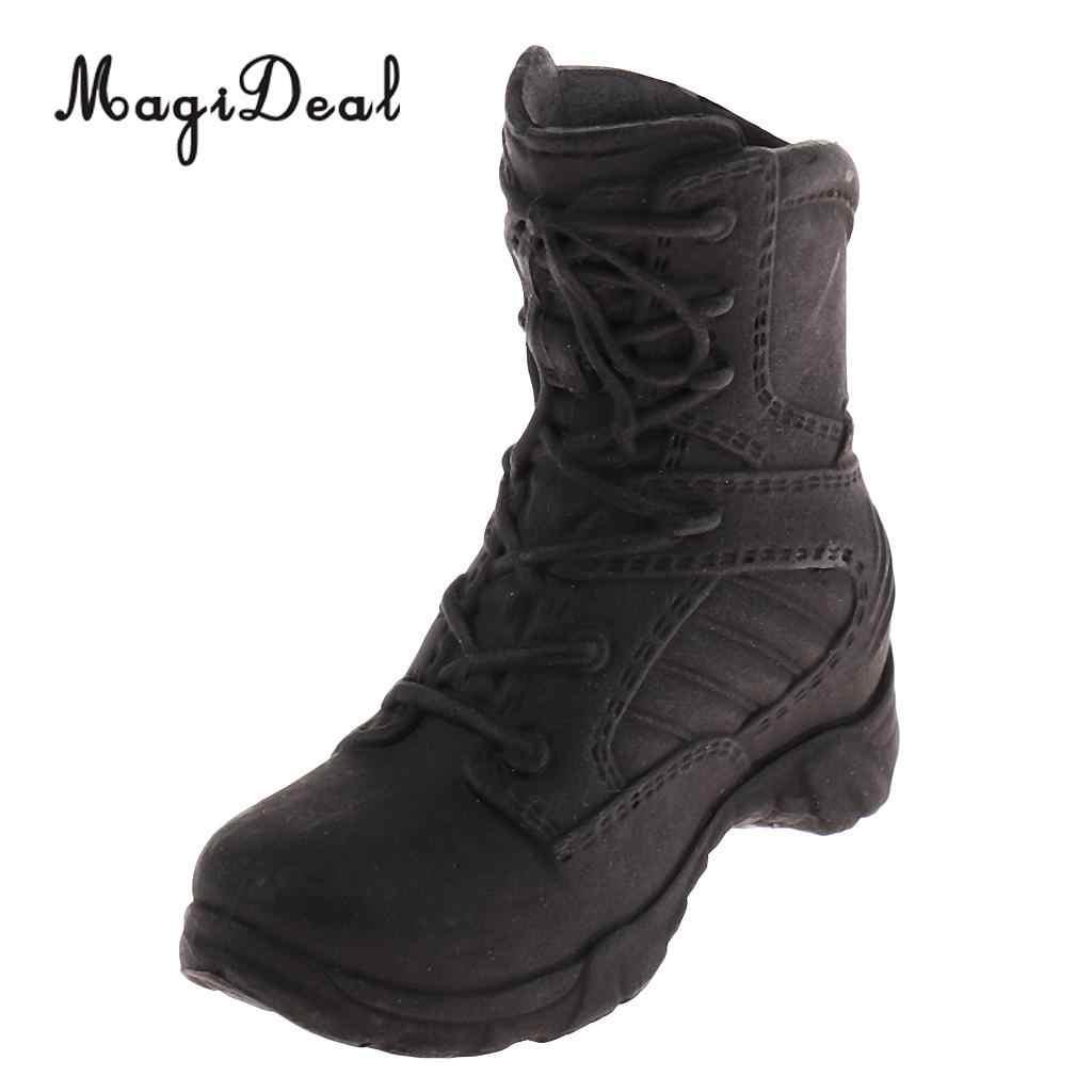 MagiDeal 1/6 Scale Policewoman Military Shoes 12 인치 여성 군인 용 전투 부츠 바디 액션 피겨 액세서리