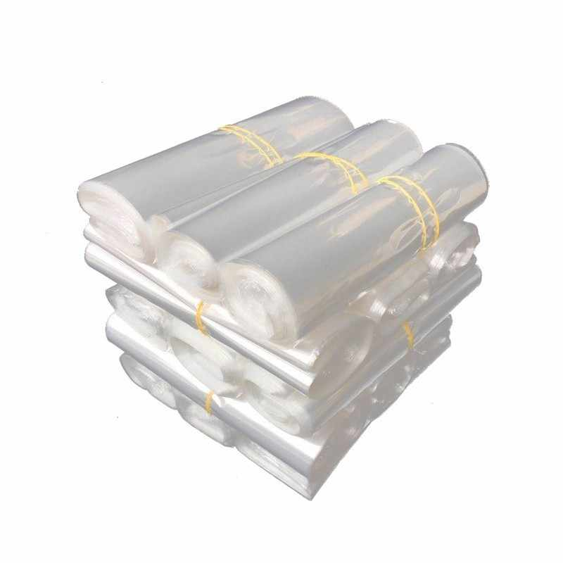 100pcs In/ 10/12/15/20/25/30/40cm Pof Transparent Plastic Heat Shrink Bag Seal Wrapping Punch Gift Packaging Storage Pocket