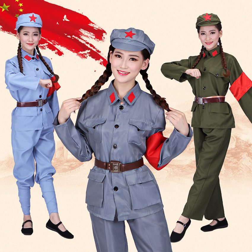 100cm-185cm Kids Tactical Military Uniform Army Costumes Children Combat Red Army Performance Clothing Cosplay Stage Wear