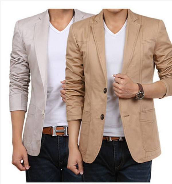 2014 Latest Autumn Slim Fit Men's Suit Jacket Casual Business ...