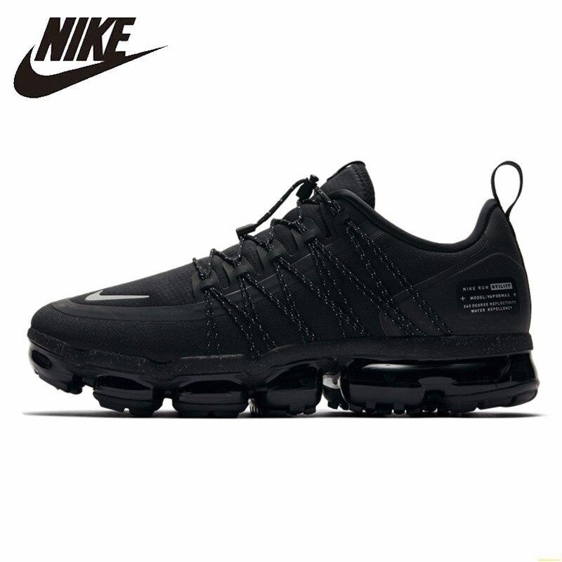 Nike Air Vapormax RUN UTILITY oficial hombres zapatillas de correr utilidades absorción de golpes cómodas zapatillas transpirables # AQ8810-003