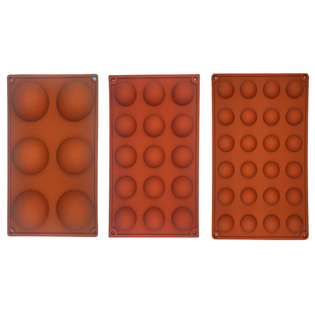 Hemisphere Shape Silicone 6/15/24 Holes Food Grade Baking Accessories Chocolate Candy Mold Bakeware Kitchen Gadgets