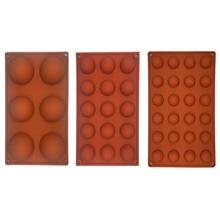Molde de silicona con forma de Hemisferio para hornear, accesorio para hornear de grado alimenticio con 6/15/24 agujeros, molde para dulces o Chocolate, utensilios de cocina para hornear