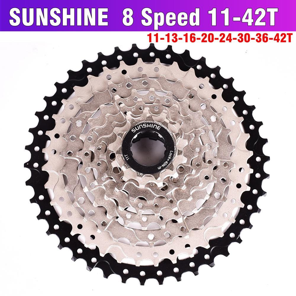LUZ DO SOL MTB Bicicleta Roda Livre 11 8 S-32 36 40 42 T MTB Mountain Bike Volante 8 24 Velocidade cassete Roda Dentada Para 8 velocidade