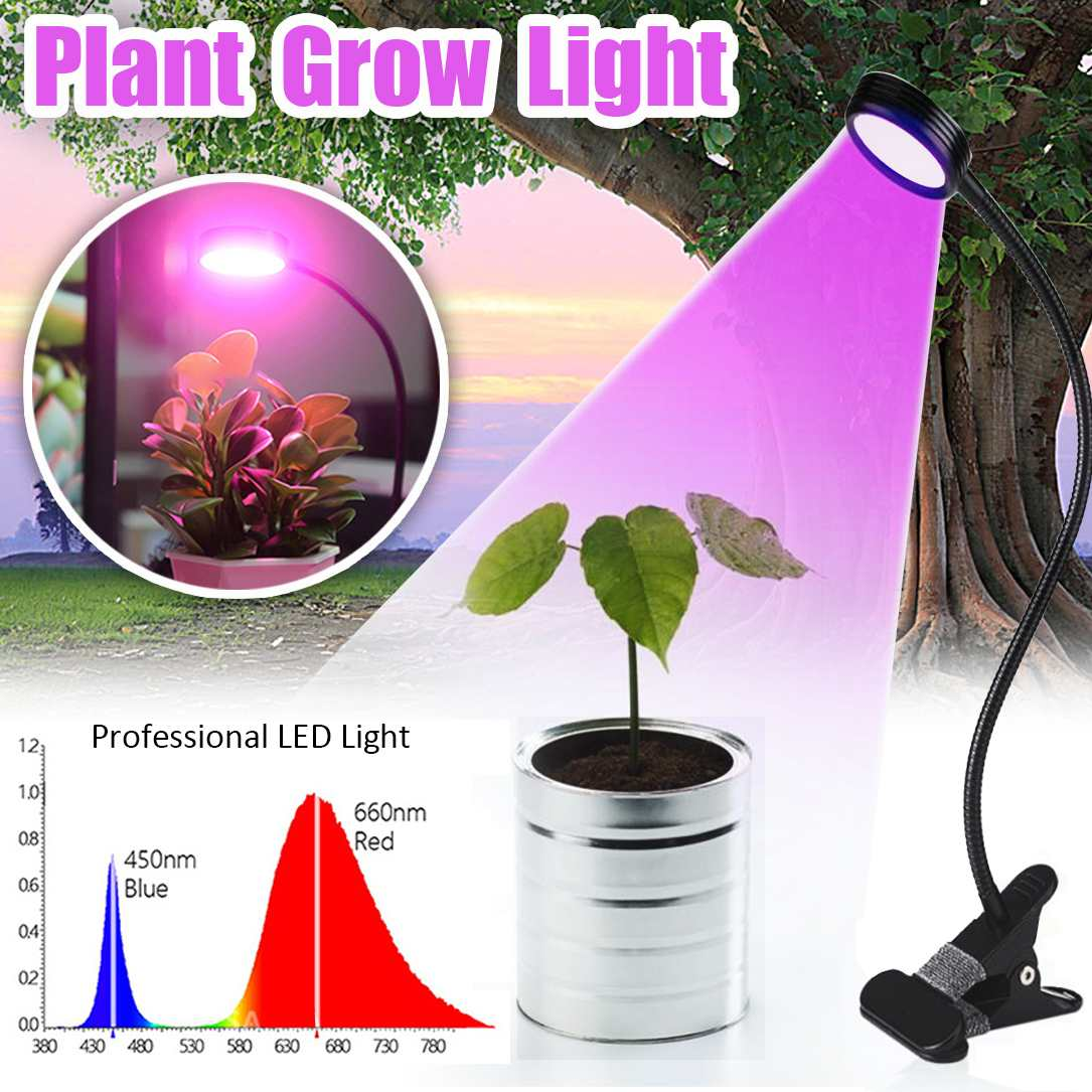 Ambitious Grow Plant Fill Light Flexible Single Double Head Timing Led Plant Grow Light Lamp Clip Plants Flower Vegetable Indoor Aquarium