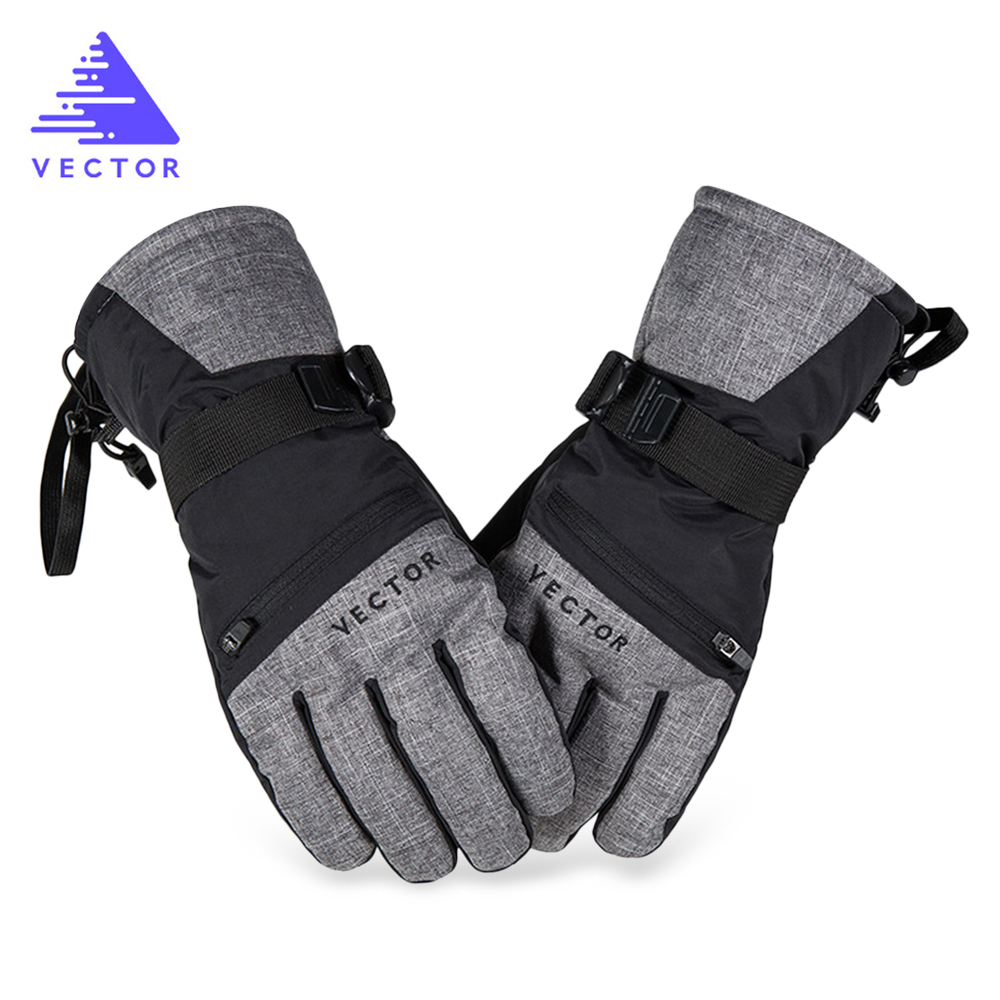VECTOR Skiing-Gloves Water-Resistant Sports Touch-Screen ACC30028 Finger-Tip Pocket-Design