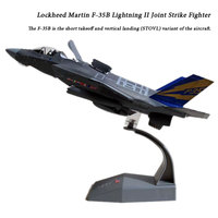 AMER 1/100 Scale Airplane Model Toys F 14 F 18 F22 F35 Fighter Diecast Metal Plane Model Toy For Gift/Collection/Decoration