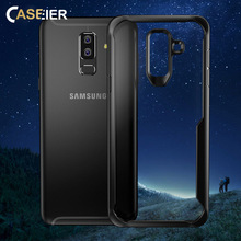 CASEIER Transparent  Case For Samsung Galaxy A8 2018 Plus S10 S10E Phone Armor Bumper Full Back Cover S8 S9 Bag