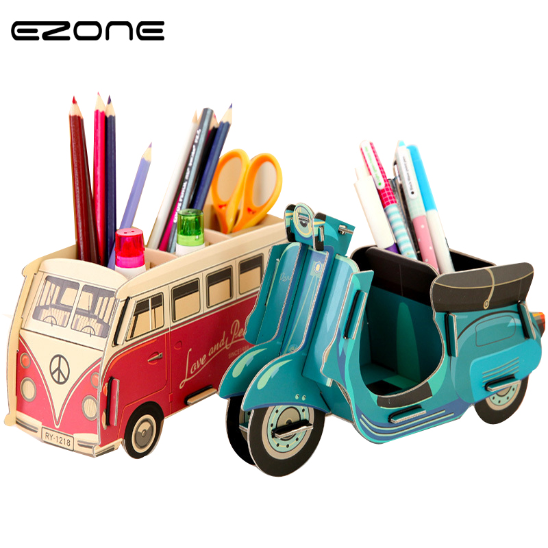 Forceful Ezone 1pc Fantastic Desktop Pen Holder Vase Pencil Stationery Diy Desk Tidy Container School Office Stationery Supplier Gifts Wide Varieties Desk Accessories & Organizer Office & School Supplies