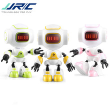 JJRC R9 RUBY Touch Control DIY Gesture Mini Smart Voiced Alloy Robot Toy RC Robot For Children Kids Birthday Gifts Present ZLRC jjr c jjrc r2 usb charging singing dancing gesture control rc robot toy blue pink for kids children gift presents