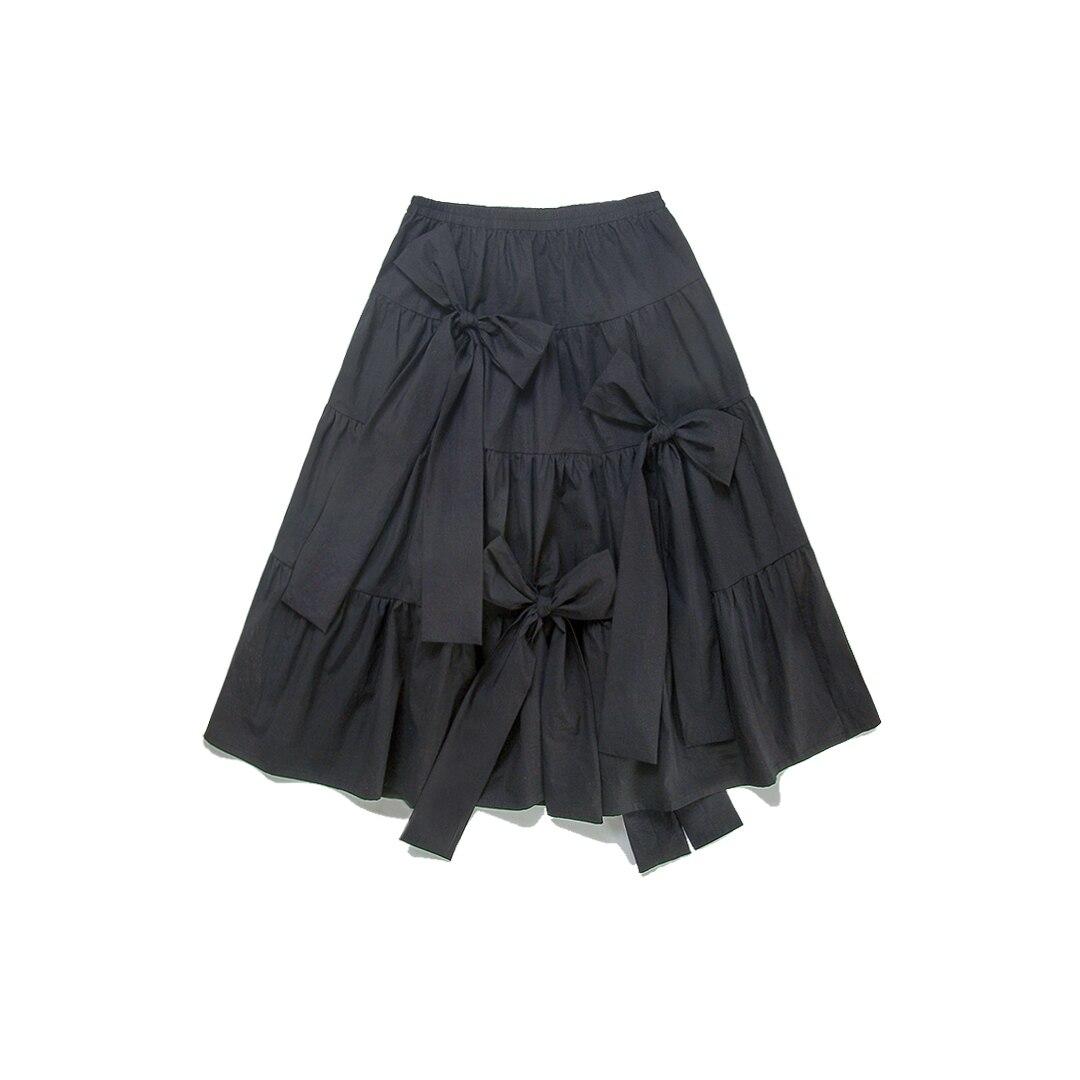 Black Witner Femmes Mode Qlzw Automne Original Jupe Plissée 2018 Longue Japonais Et Noir Vêtements Arc Nouvelle Wc436 corps Demi De w8gwHqfI