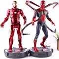 Marvel Captian amérique figurine guerre civile Avengers infini guerre fer homme araignée homme Collection modèle jouets avec lumière LED