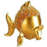 European Resin Fish Ornaments Goldfish Miniatures Home Decor Kiss Fish Figurines Wedding Gifts Desktop Crafts Furnishing