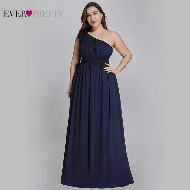 Plus Size Burgundy Chiffon Bridesmaid Dresses Long Ever Pretty EP08237 A-Line Sleeveless Elegant Formal Wedding Guest Gowns 2019 Bridesmaid Dresses and Gowns