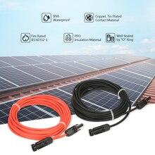 1 пара 20 футов черный+ 20 футов красный 10AWG удлинитель для панели солнечных батарей кабель провода с MC4 женский и мужской разъем