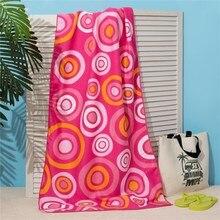 Полотенце пляжное Этель 70*140 см, Розовые круги, микрофибра 250гр/м2   3936319
