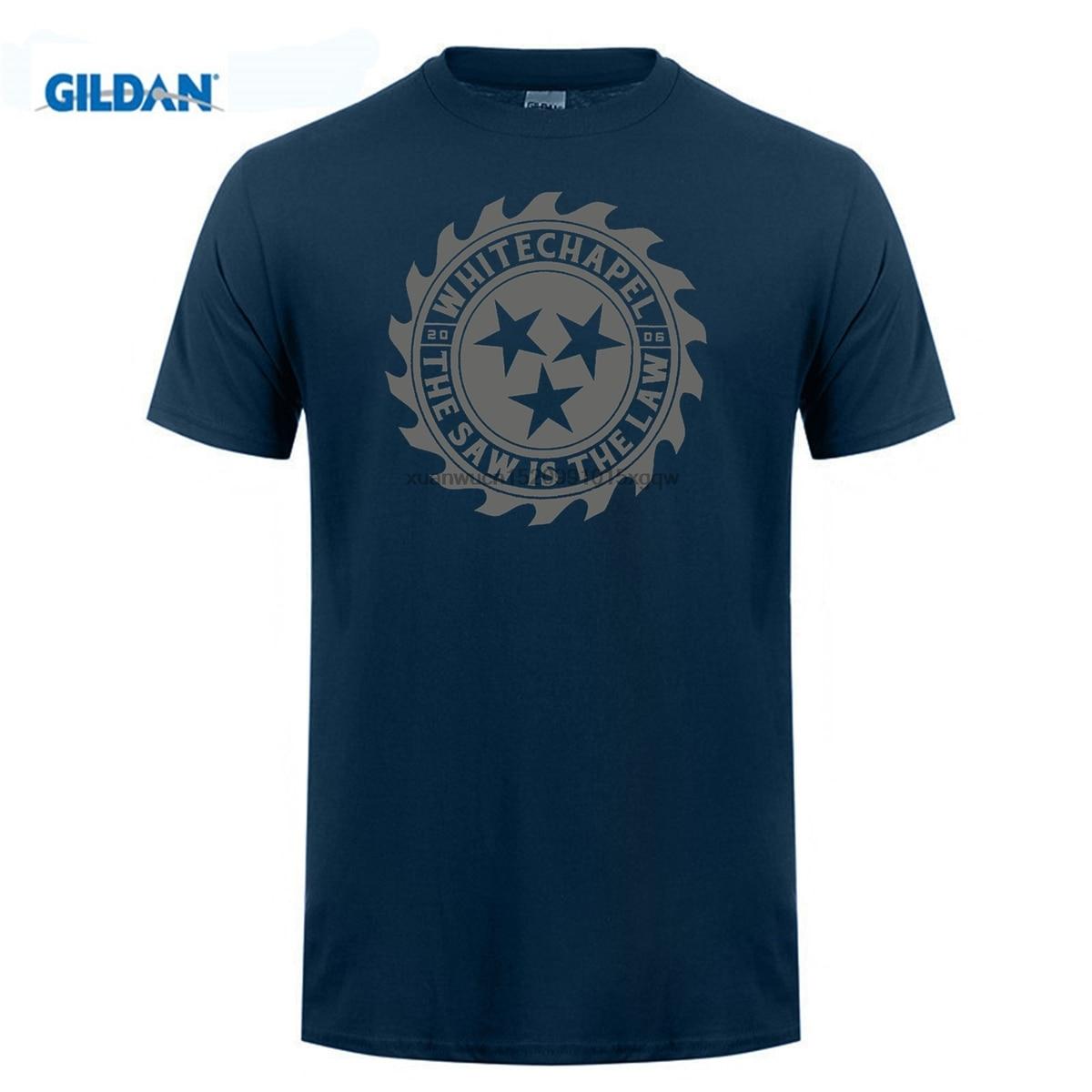 GILDAN AvatarsStore Short Sleeves Cotton Fashion T Shirt Free Shipping Whitechapel Men 39 s Saw Is The Law T shirt Black in T Shirts from Men 39 s Clothing